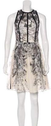 Lela Rose A-Line Printed Dress