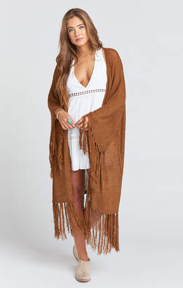 Show Me Your Mumu Jolene Fringe Cardigan ~ Brown Sugar Knit