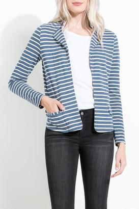 THML Clothing Striped Knit Blazer $68 thestylecure.com