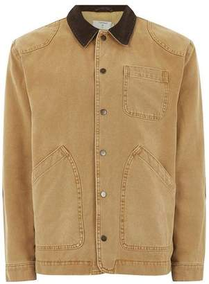 Topman Mens Yellow Mustard Chore Jacket