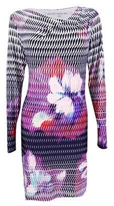 Rachel Roy Women's Printed Drape Nk Jersey Shift Dress