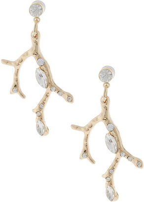 Lydell NYC Crystal Branch Drop Earrings $25 thestylecure.com