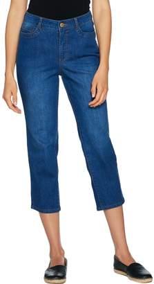 Isaac Mizrahi Live! TRUE DENIM 5-Pocket Crop Jeans