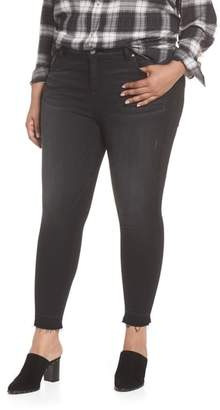 KUT from the Kloth Donna Frayed Released Hem Crop Skinny Jeans