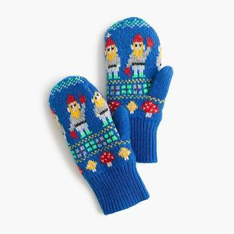 J.Crew Kids' gnome Fair Isle mittens