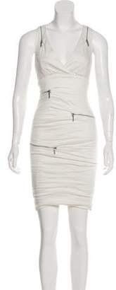 Nicole Miller Zip-Accented Sleeveless Dress