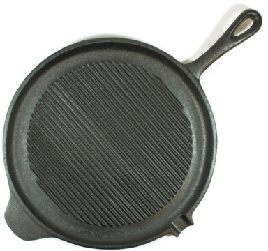 Old Mountain Round Grill Pan With Handle