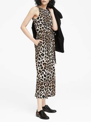 Banana Republic Leopard Print Cropped Wide-Leg Jumpsuit