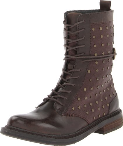 Calvin Klein Jeans CK Jeans Women's Cassey Waxy Linen/Leather Lace-Up Boot
