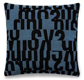 Maharam Letters In Aqua Pillow
