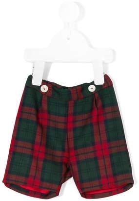 Siola tartan fitted shorts