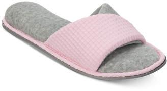 Dearfoams Textured Knit Twist Vamp Slide