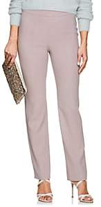 Giorgio Armani Women's Virgin Wool Flat-Front Trousers - Pink