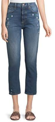 Alice + Olivia AO.LA by Alice+Olivia Amazing High-Rise Ankle Girlfriend Jeans