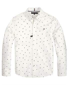 Tommy Hilfiger Allover Print L/S Shirt (Boys 8-14 Years)