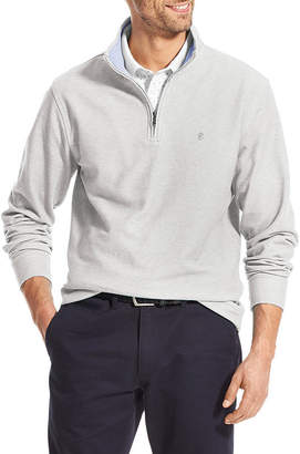Izod Saltwater Mens Mock Neck Long Sleeve Quarter-Zip Pullover