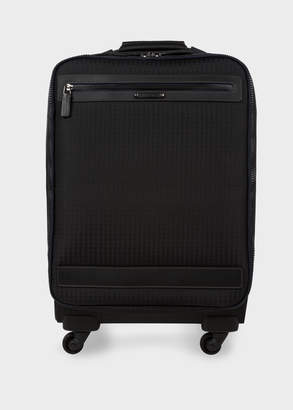 Paul Smith Black 'Jacquard Rabbit' Trolley Suitcase