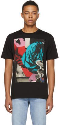 Paul Smith Black Rose Panel Screen T-Shirt