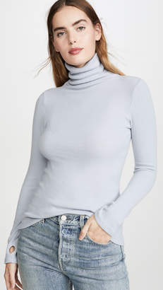 Enza Costa Long Sleeve Turtleneck Sweater