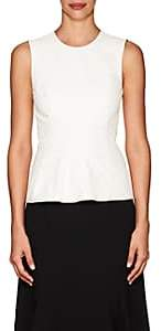Narciso Rodriguez Women's Leather Sleeveless Top - White