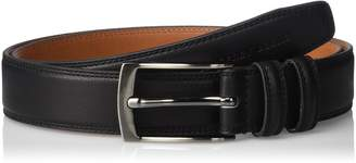 Geoffrey Beene Men's Feather Edge Dress Belt With Brushed Gunmetal Buckle
