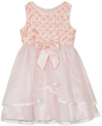 Rare Editions Little Girls Basket Weave Mesh Dress