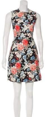 Celine Floral Print Leather Dress w/ Tags