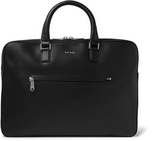 Paul Smith Contrast-Tipped Textured-Leather Briefcase - Men - Black