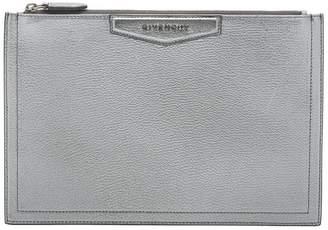 Givenchy silver Antigona Medium clutch bag