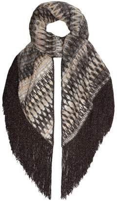 Missoni Metallic Knit Shawl - Womens - Silver