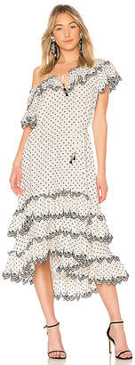 Zimmermann Jaya Scallop Tiered Dress