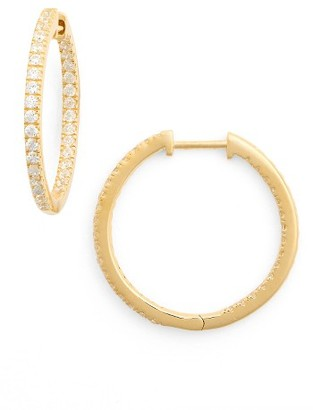 Women's Nordstrom Inside Out Hoop Earrings $49 thestylecure.com