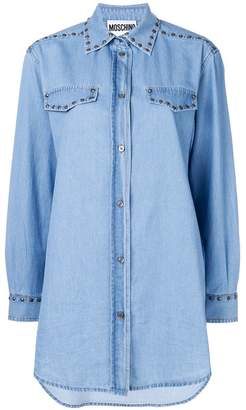 Moschino oversized studded denim shirt
