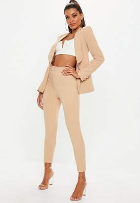 Missguided Nude Cigarette Pants