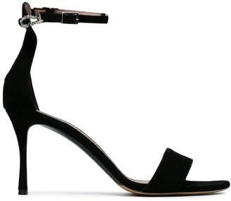Tabitha Simmons Black Tilda 85 Suede sandals
