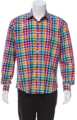 Etro Checkered Woven Top