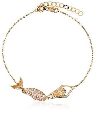 Anton Heunis 18k yellow gold mermaid diamond bracelet