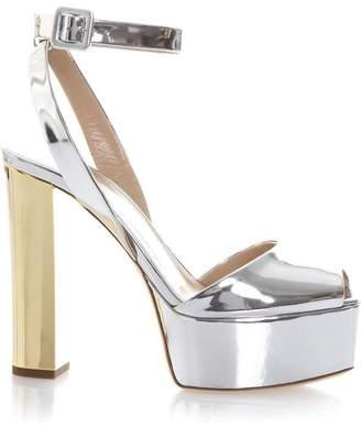 Giuseppe ZanottiCalfskin sandal with metal 'Cruel' accessory CRUEL VWqXbGP