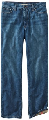 L.L. Bean Men's L.L.Bean 1912 Jeans, Classic Fit Flannel-Lined