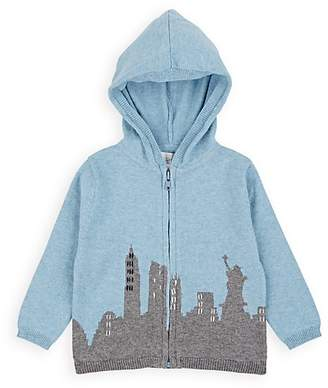 Lucky Jade INFANTS' NEW YORK CITY COTTON-CASHMERE HOODIE