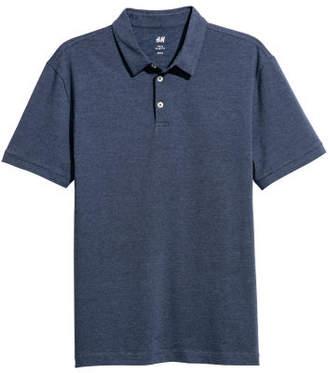 H&M Polo Shirt Slim fit - Blue