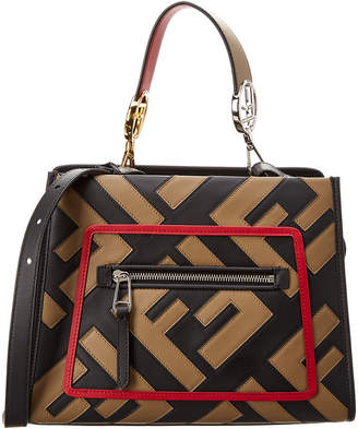 Fendi Small Runway Leather Tote
