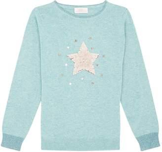 Wild & Gorgeous Sequin Star Sweater