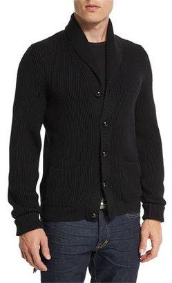 TOM FORD Iconic Shawl-Collar Cardigan, Black $1,590 thestylecure.com