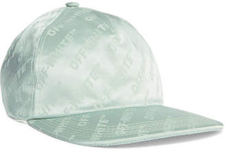 0ec768361682c Off-White Satin-jacquard Baseball Cap - Mint