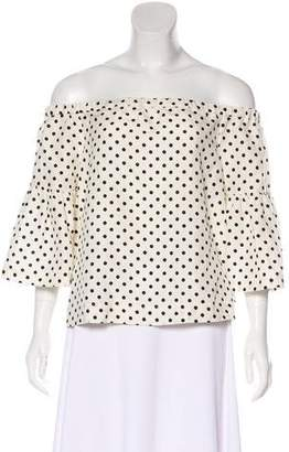 Piamita Silk Polka Dot Top