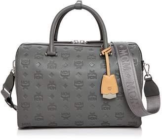 MCM Boston Essential Monogrammed Leather Satchel