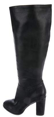 Michael Kors Leather Round-Toe Knee-High Boots