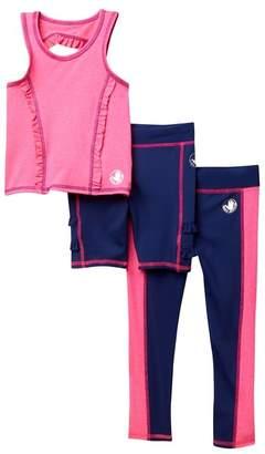 Body Glove Tank, Legging, & Shorts Set (Little Girls)