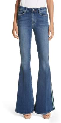L'Agence Solana Side Stripe Flare Jeans